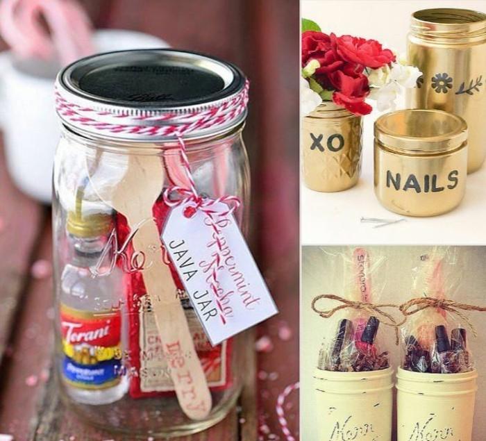 DIY Geschenke diy ideen geschnkideen parsönliche geschenke persönliches glas mit geschenken