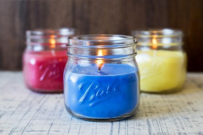DIY Geschenke diy ideen geschnkideen parsönliche geschneke persönliches glas kerze bunt