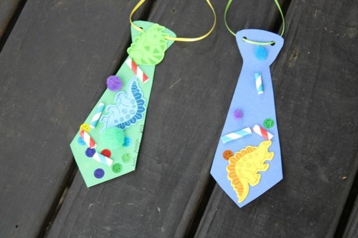 diy ideen krawatte vaterstag kinder