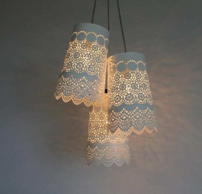 diy lampe hängelampen ausgefallene lampenschirme