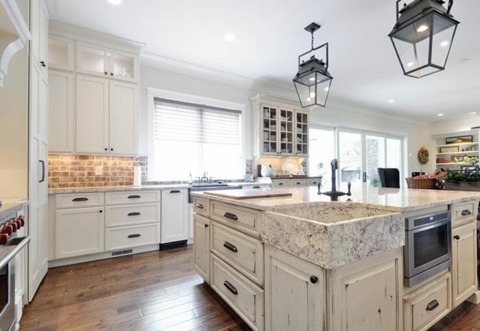 einbauküche kücheneinrichtung shabby chic stil