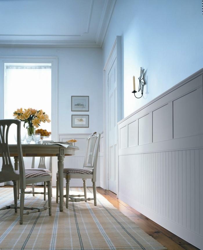 runder holztisch esszimmer, esszimmer landhausstil - 50 innendesigns fürs esszimmer, Design ideen