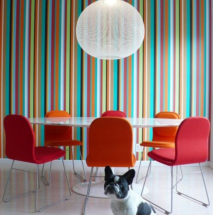 esszimmerstühle wohnideen einrichtungsbeispiele deko ideen nachhaltige mode 70er