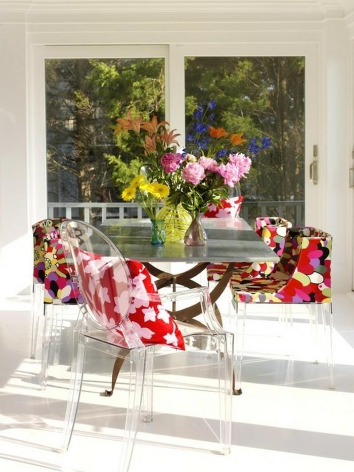 esszimmerstühle wohnideen einrichtungsbeispiele deko ideen nachhaltige mode bunt1