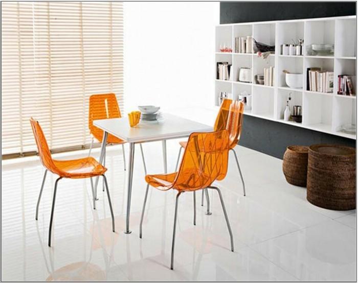 esszimmerstühle wohnideen einrichtungsbeispiele deko ideen nachhaltige mode orange