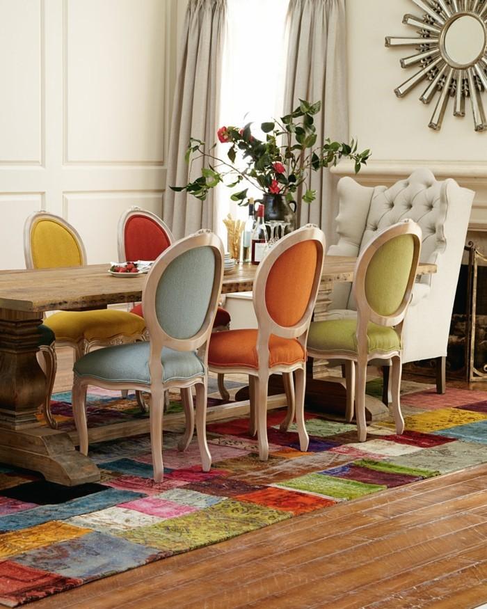 esszimmerstühle wohnideen einrichtungsbeispiele deko ideen nachhaltige mode pastellfarben