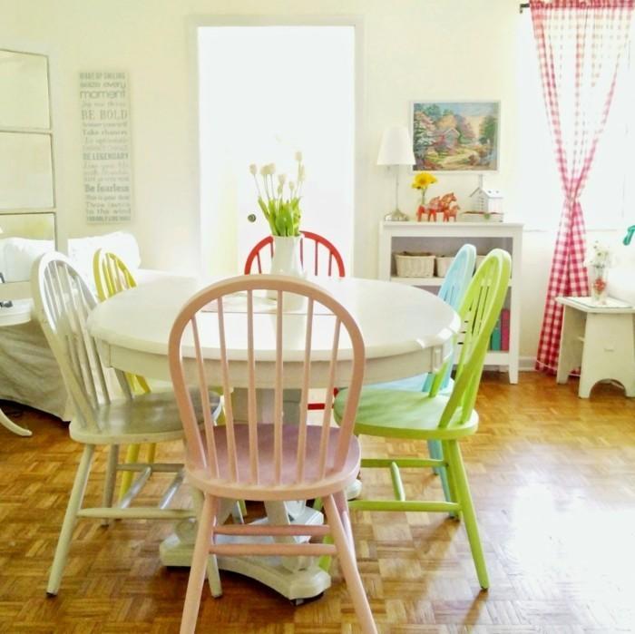 esszimmerstühle wohnideen einrichtungsbeispiele deko ideen nachhaltige mode runde lehne
