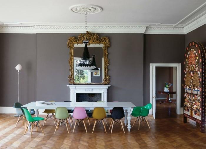 esszimmerstühle wohnideen einrichtungsbeispiele deko ideen nachhaltige mode stilmix
