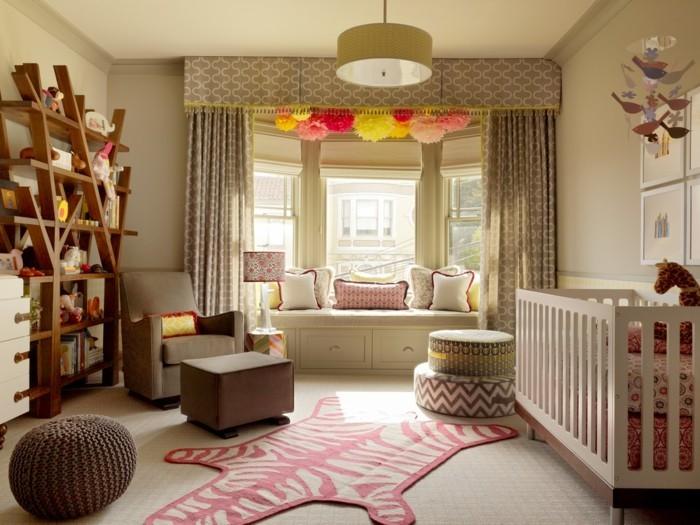 fensterbank innen kinderzimmer babyzimmer cooler teppich