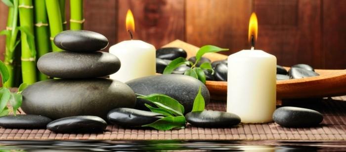 fett verbrennen massage steine kerzen