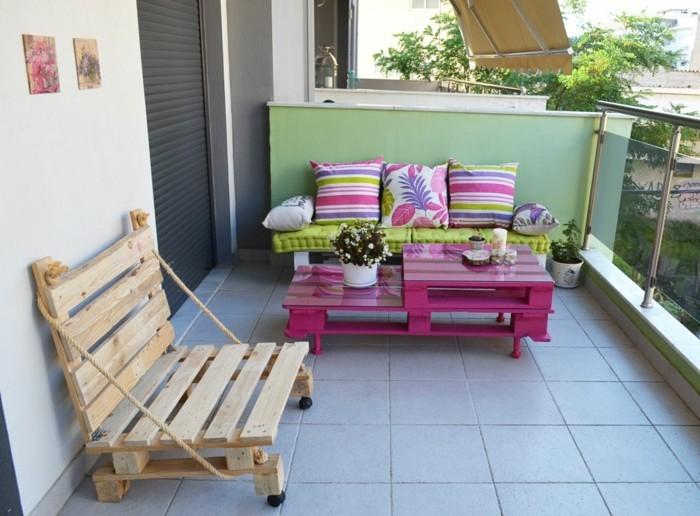 gartenideen außenmöbel bauen paletten balkonmöbel