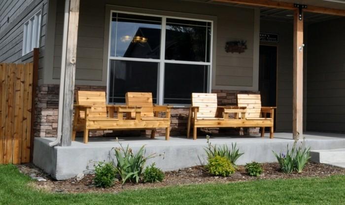 gartenmöbel selber bauen hölzerne gartenstühle terrasse gestalten