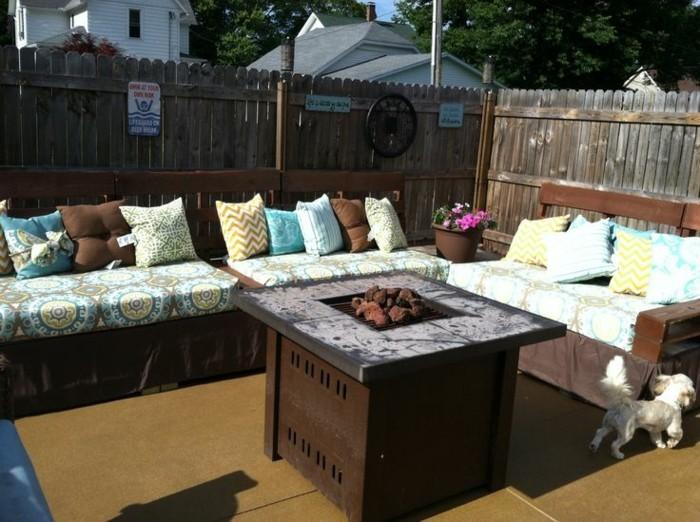 Gartenmobel Polyrattan Loungemobel : gartenmöbel selber bauen sitzbank dekokissen gartenideen hinterhof