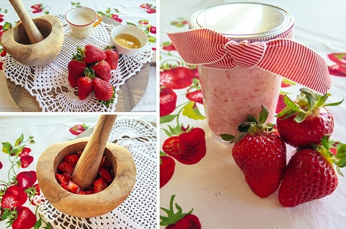 gesichtsmasken detox hautpflege sommermaske erdbeeren