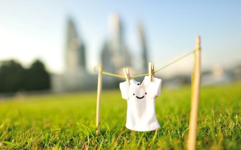 gesundes Leben Bauen und Leben Energie sparen Wäsche