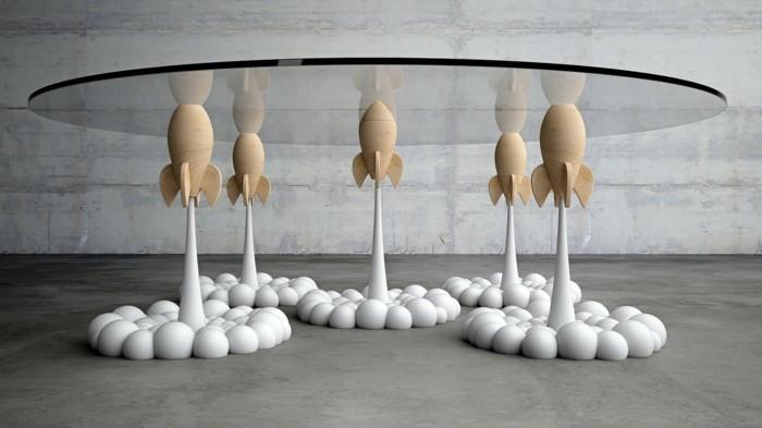 glastisch einrichtungsbeispiele deko Ideen derek pearce robben nielpferd aufbau