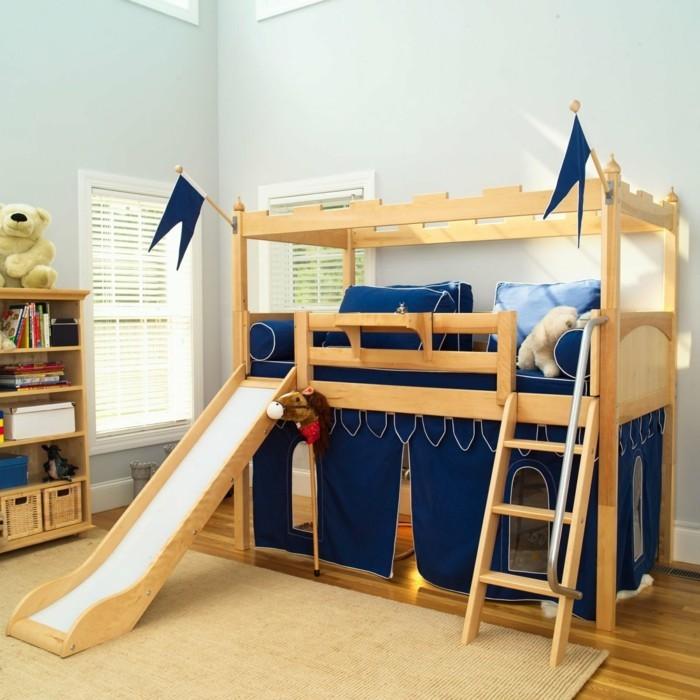 hochbett mit rutsche jungenzimmer gestalten