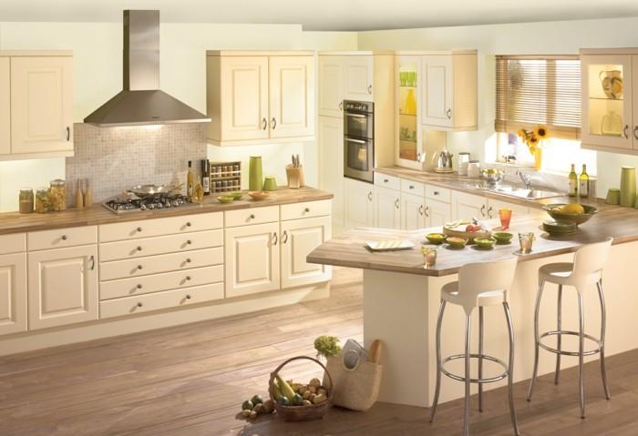 küche streichen küchendesign in creme