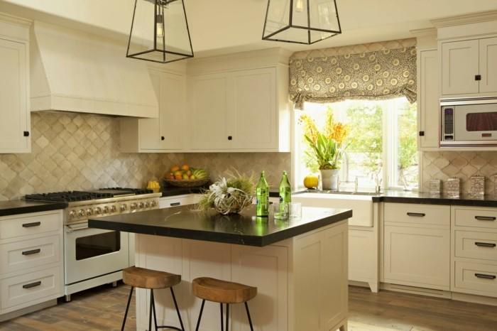küche streichen küchenschränke in creme auswählen für mehr gemütlichkeit
