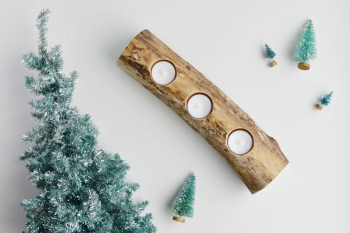 kerzenhalter basteln zweig weihnachten dekoideen