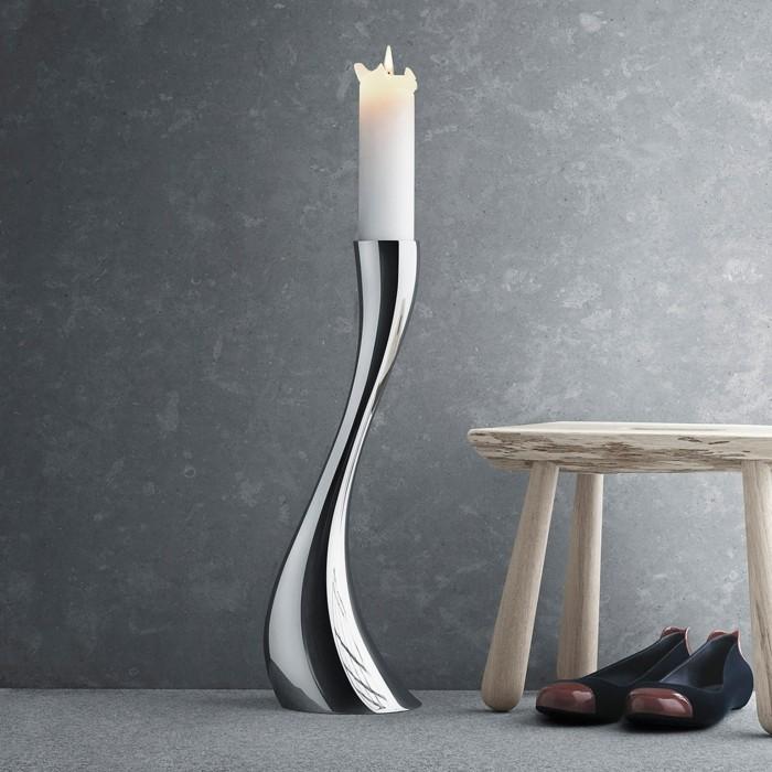 kerzenständer silber designer georg jensen cobra kollektion kerzenleuchter silber