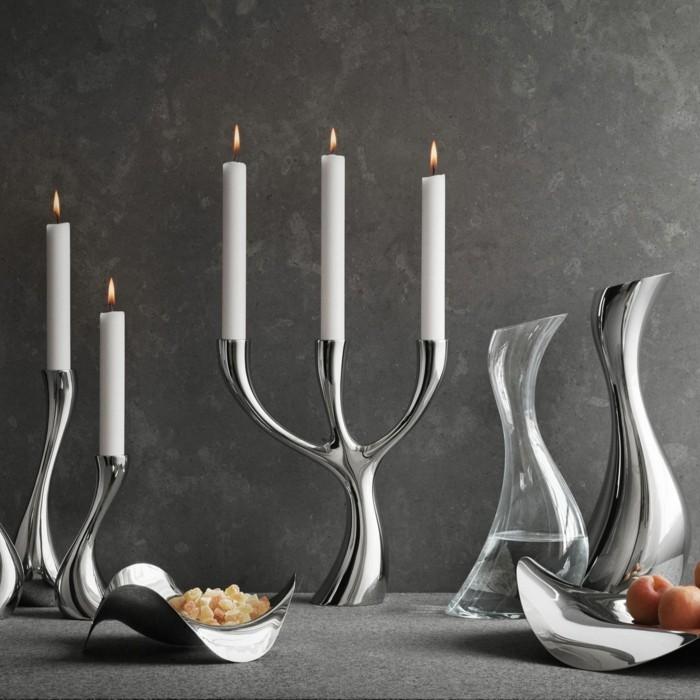 kerzenständer silber designer georg jensen cobra kollektion silber karaffe schalen