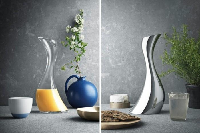 kerzenständer silber designer georg jensen karaffen silber glas cobra collection