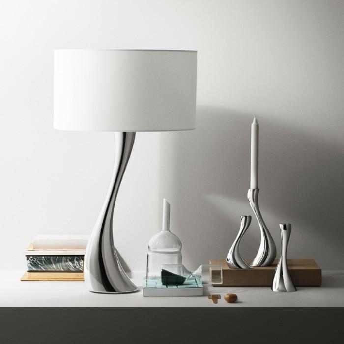 kerzenständer silber designer georg jensen moderne lampe kerzenleucter silber glanz cobra