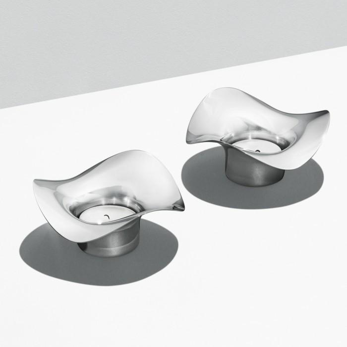 kerzenständer silber designer georg jensen windlichter cobra