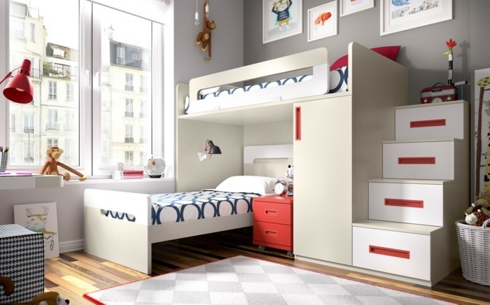 hochbett mit schrank 20 funktionale kinderhochbetten. Black Bedroom Furniture Sets. Home Design Ideas