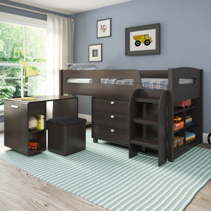 kinderzimmer mit hochbett einrichten f r eine optimale raumgestaltung. Black Bedroom Furniture Sets. Home Design Ideas