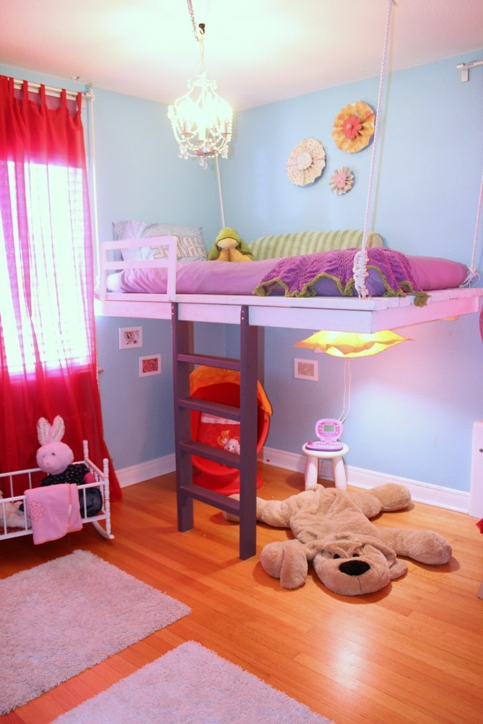 kinderzimmer hochbett madchenzimmer gestalten ideen. Black Bedroom Furniture Sets. Home Design Ideas
