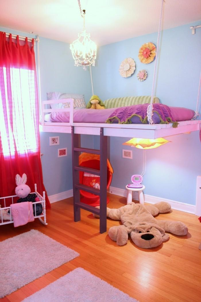 kinderzimmer hochbett mädchenzimmer gestalten ideen