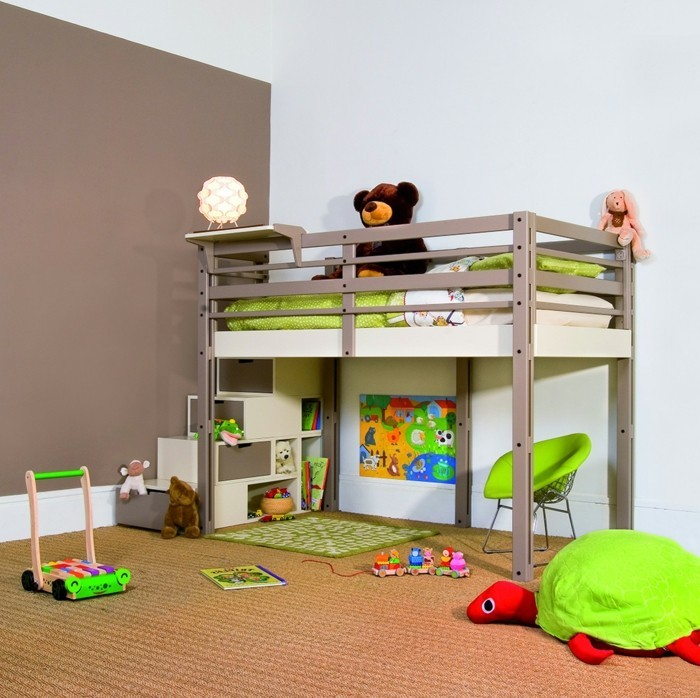 kinderzimmer mit hochbett einrichten f r eine optimale. Black Bedroom Furniture Sets. Home Design Ideas