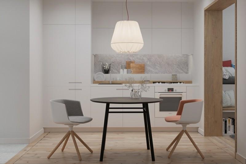 kleine Wohnung einrichten Ideen Küche und Essbereich