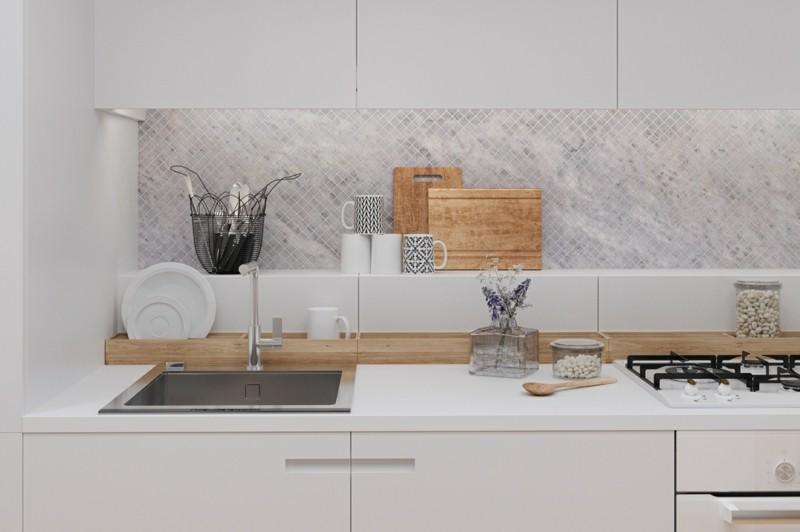 kleine Wohnung einrichten Ideen Küchemöbel Küchenschränke klein