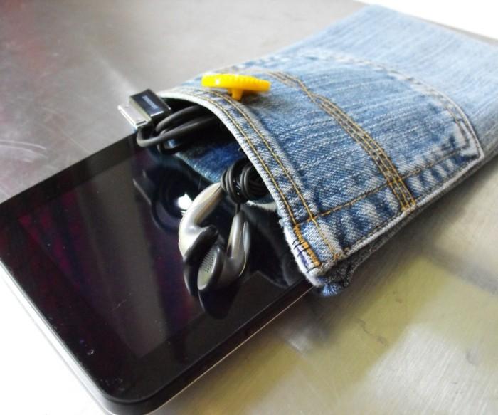 kreativ basteln etui tablett nähen jeans