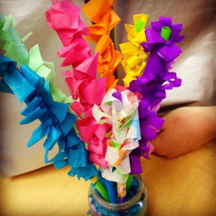 kreativ basteln kinder Hyacinthe servietten
