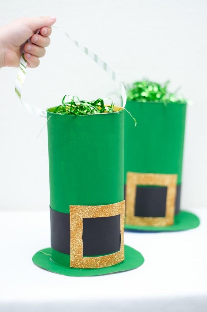 kreativ basteln kinder grüner hut
