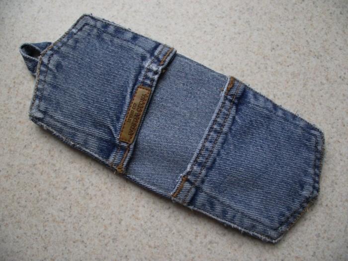 kreativ basteln topflappen nähen alte jeans benutzen