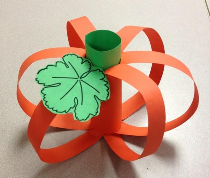 kreative bastelideen kinder papier kürbis