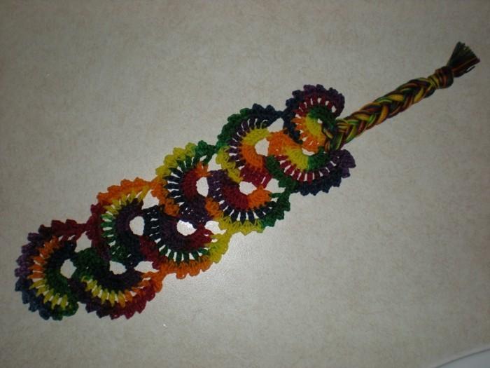 kreatives basteln farbiges lesezeichen basteln