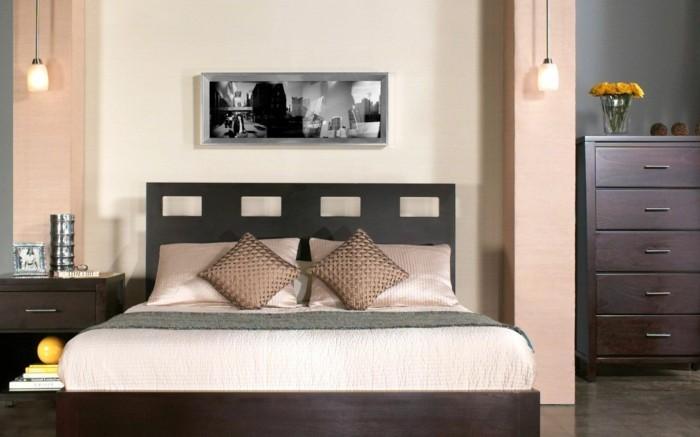 lampe schlafzimmer elegante hängelampen stauraum ideen