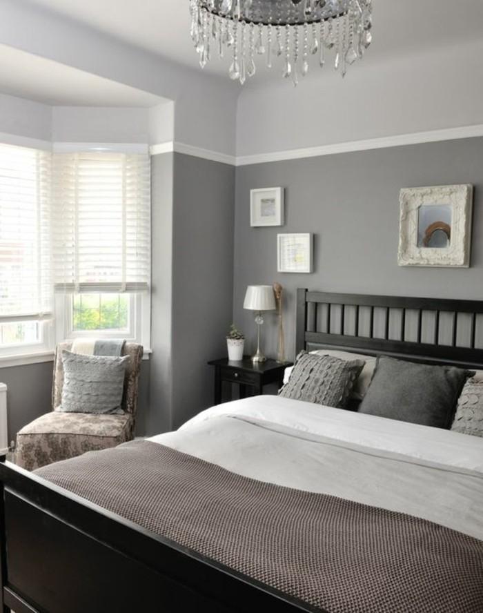 lampe schlafzimmer tischleuchte kronleuchter hellgraue wände