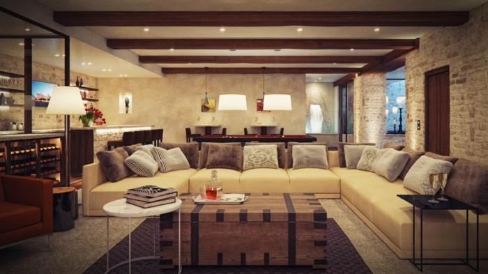 Holzbalken Wohnzimmer ~ Innenarchitektur und Möbel Inspiration