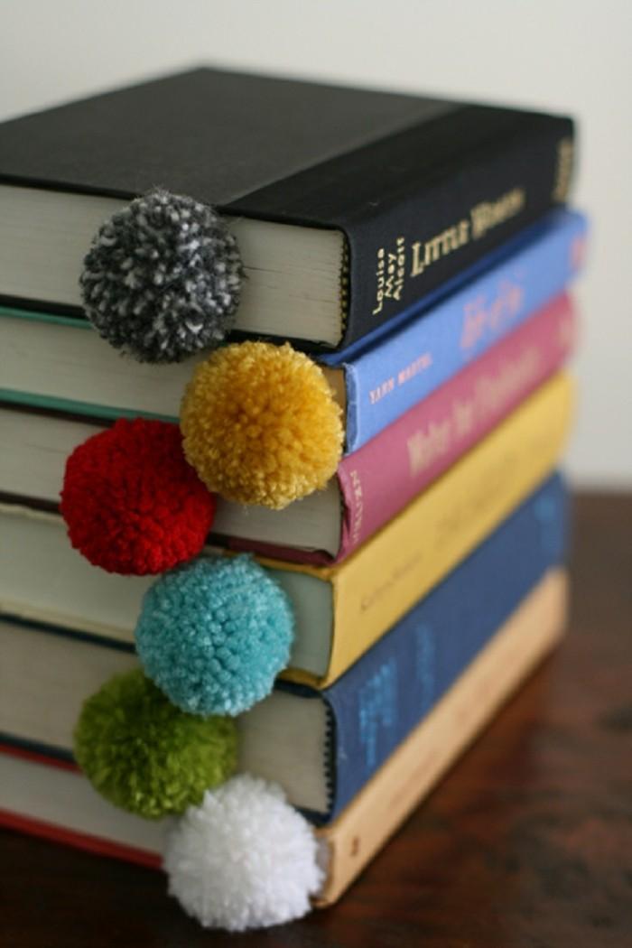 lesezeichen selber machen diy ideen stoff farbig