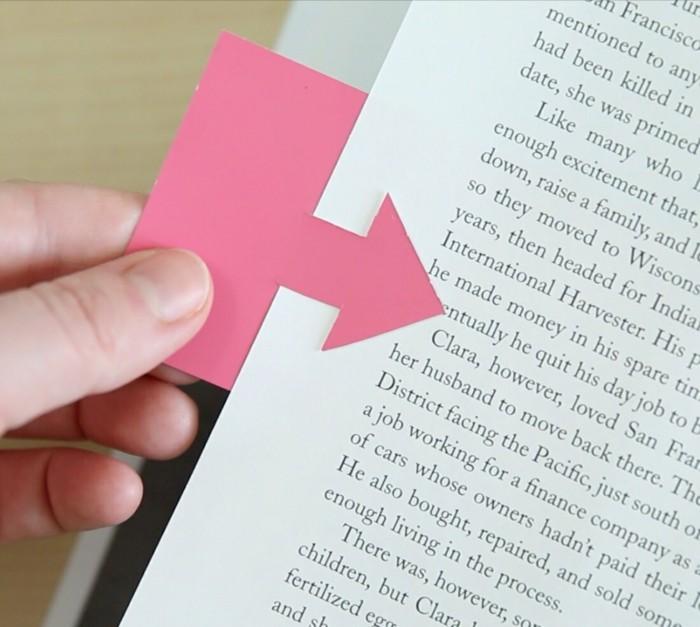 lesezeichen selber machen papier farbig