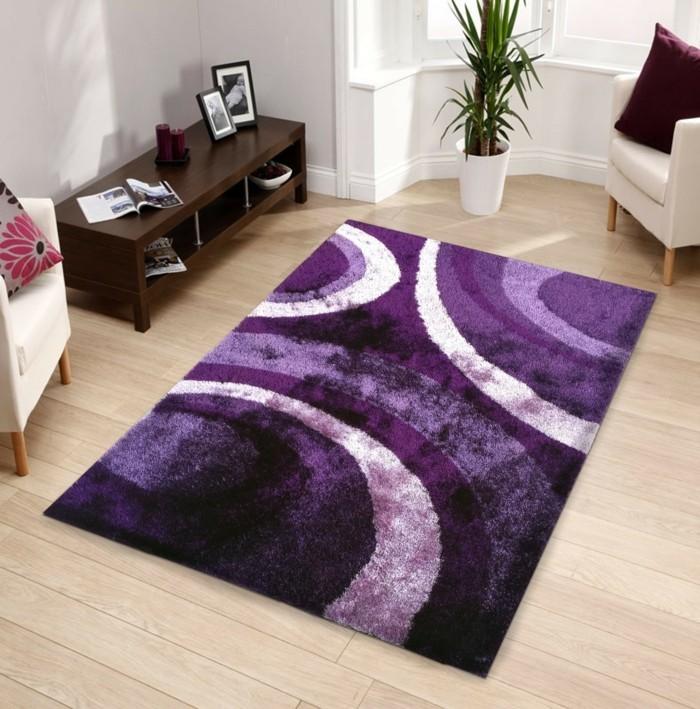 lila teppich schönes muster elegant