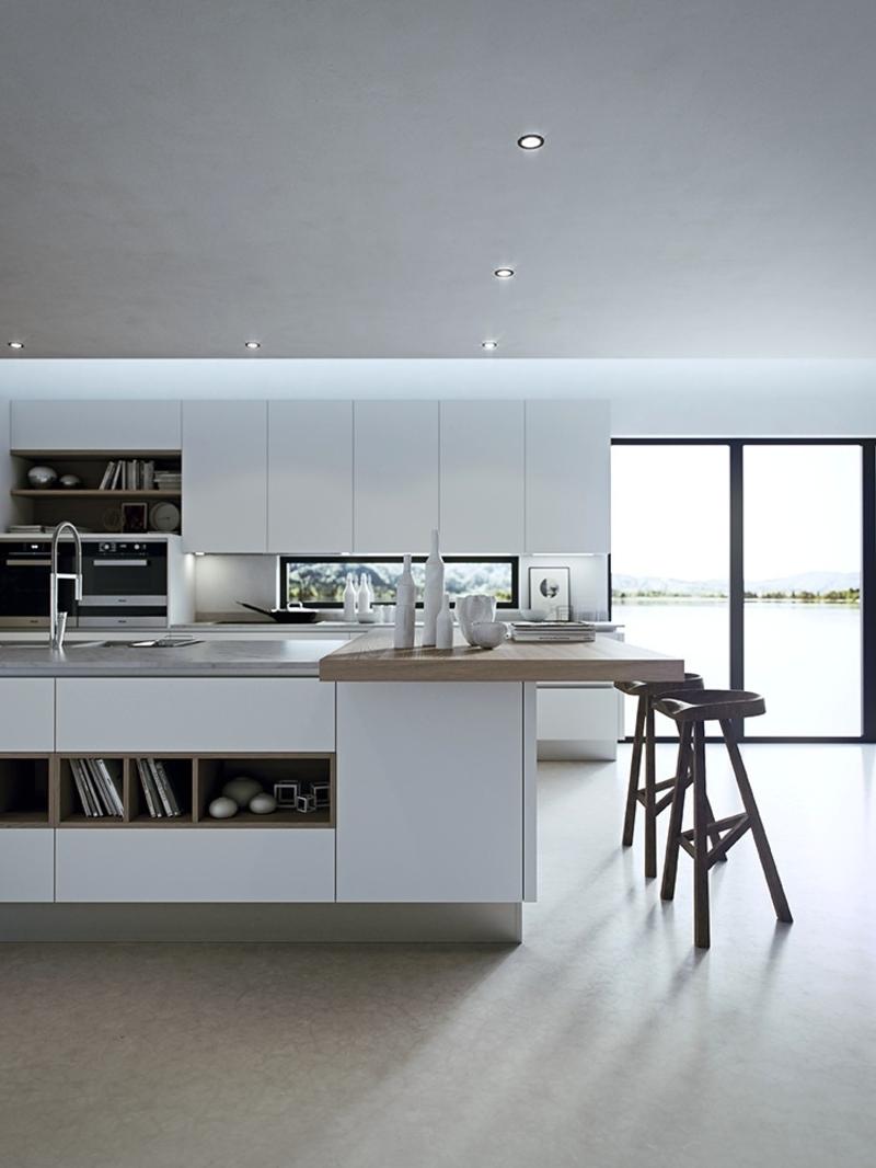 minimalistische Kücheninsel Küchendesign Kücheneinrichtung Ideen für Männer