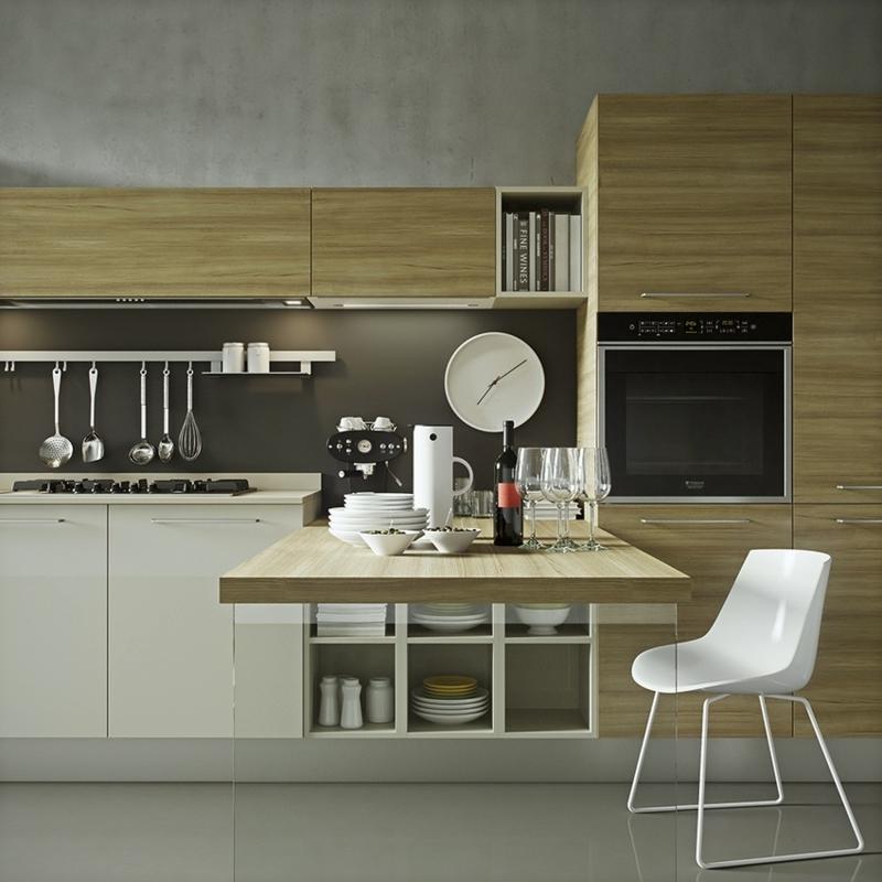 minimalistisches Küchendesign Holzküche Kücheneinrichtungen für Männer